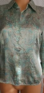 100% silk button blouse